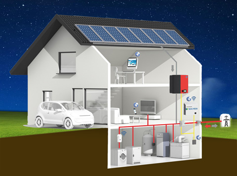 fotovoltaico con batteria schema notte